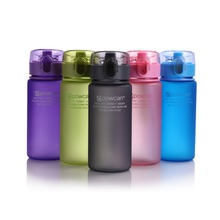 Sport Water Bottle Plastic 400ml 560ml  With Filter Straw Shaker For