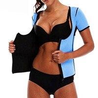 Women S 3XL Sweat Body Shaper Slimming Waist Cincher Weight Loss Belly Fat Burn Sweat Vest Neoprene Waist Trainer Corsets Tops