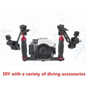 Image 1 - כף יד ידית יד גריפ מייצב Rig מתחת למים צלילה צלילה מגש הר/LED אור המצלמה pro עבור SJCAM smartphone