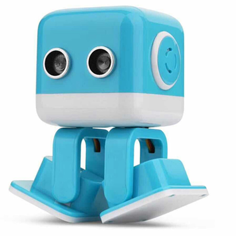 Smart Square Dance Robot USB Charging Electronic Walking Toys With Music Light IR/Phone Remote Control For Children Gift