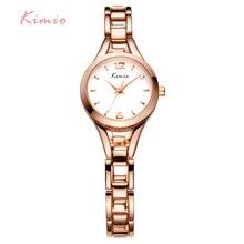 KIMIO Dames Simple Petit Cadran Rond Or Rose Squelette Bracelet Femmes Montres 2016 Top Marque Casual Quartz Montre Waches Femmes