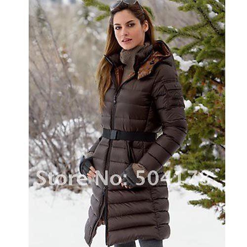 Online Shop Warm Winter Skiing Ladies Down Jacket Long Design ...