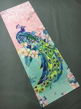Peacock pattern suede skin Natural Rubber eco-friendly slip-resistant Hot Yoga best yoga mat Fitness rubber mat accept OEM order