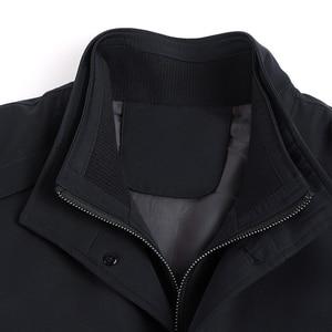 Image 5 - Chaquetas informales para hombre Mu Yuan Yang, primavera y otoño, gabardina larga para hombre, novedad de 2018, gabardinas y chaquetas con cremallera