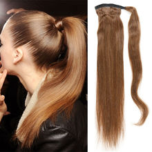 Remy Human Ponytail 100% Ponytail Human Hair Extension 100g/Pc  Clip in Hair Extensions Straight  Human Drawstring  Ponytail