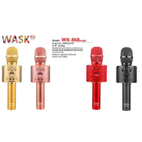Karaoke Bluetooth Wireless Microphone Handheld Rechargeable Condenser Microphones Portable Smart Studio Recording Mic For Phones