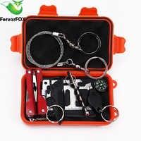 1 Satz Outdoor Notfallausrüstung SOS Kit Verbandskasten versorgung Feld selbsthilfe Box Für Camping Reise Überleben Getriebe Werkzeug Kits