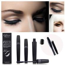 2pcs Qibest Makeup Eyelash Long Curling Fiber 3D Mascara Eye Lashes Extension  last long Natural  Thick