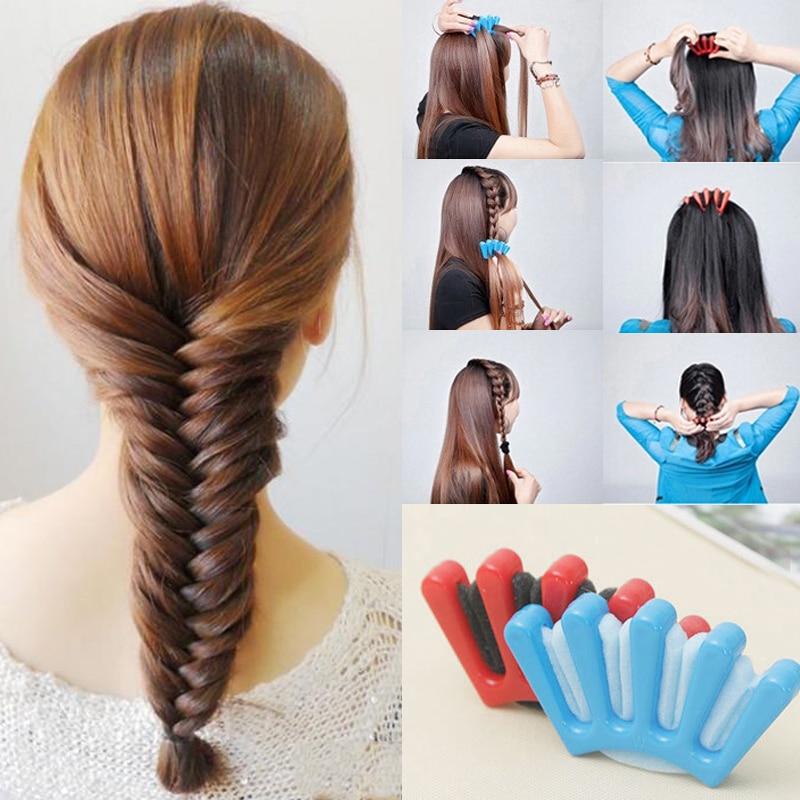 1pcstwist Styling Hair Braider Professional Sponge Braid Tool Holder Clip Diy French Style Hair