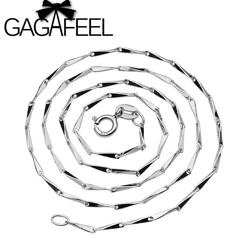 GAGAFEEL New Arrival Hot Sale Wholesale 100% Real Pure 925 Sterling Silver necklace Seeds chain High quality ,YXL-0004A