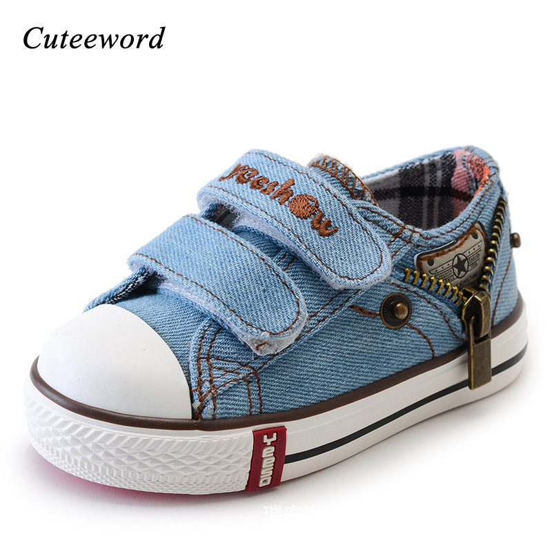 Children canvas shoes casual boys shoes sport spring autumn new baby toddler kids shoes for girl flats school sneakers size19-36