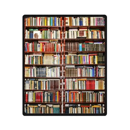 Custom Neat BookshelfLibrary Fleece Blankets 50 X 60 InchesMedium In From Home Garden On Aliexpress