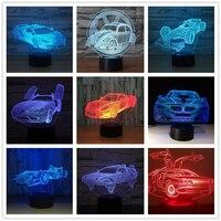 Aris гоночный автомобиль формула 3D ночник настольная лампа 7 цветов Изменение Настольная лампа 3d лампа Новинка светодиодная оригинальная Ноч...