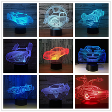 Aris Racing Car Formula 3D Night Light Table Lamp 7 Colors Changing Desk Lamp 3d Lamp Novelty Led Night Lights Led Light недорого
