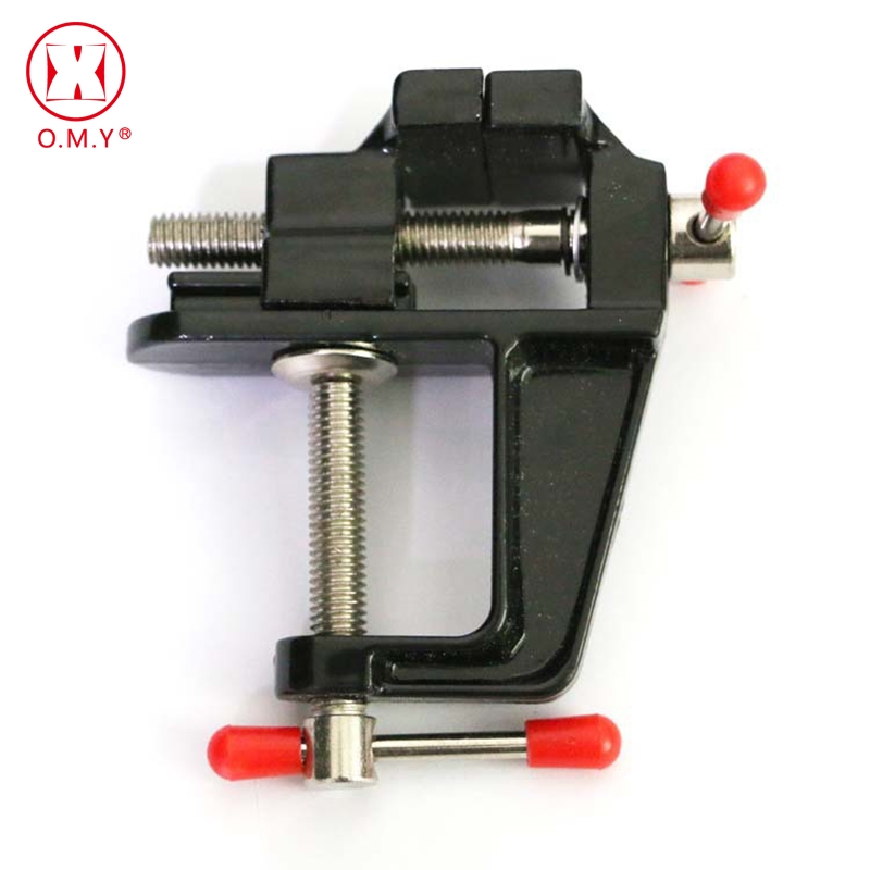 OMY Hot 1PC High Quality New Aluminum Small Jewelers Hobby Clamp On Table Bench Vise Mini Tool Vice цена