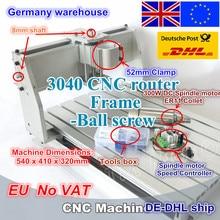 【EU gemi/ücretsiz VAT】 DIY 3040 CNC freze makinesi mekanik çerçeve kiti vidalı 300W DC mil motoru