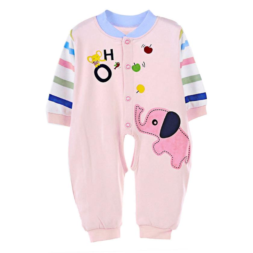 Baby Kids Boy Girl Infant Romper Jumpsuit Cotton Clothes Outfit Elephant Design Jan04 newborn infant baby girl clothes strap lace floral romper jumpsuit outfit summer cotton backless one pieces outfit baby onesie
