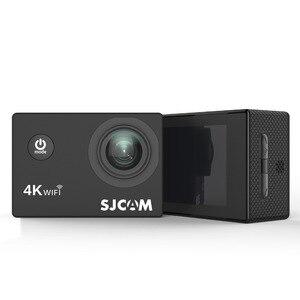 """Image 3 - Sjcam mini capacete sj4000 air, câmera de ação de 4k e 30fps, chipset allwinner 1080p 60fps, wifi, esportivo, dv, 2.0 """"dv câmera esportiva à prova d água"""