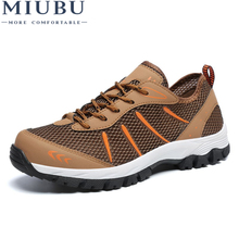 MIUBU Summer Men Lace Up Casual Sneakers Comfort 2018 Fashion Shoes Designer Flats Trainers Breathable Boys Rubber Waterproof