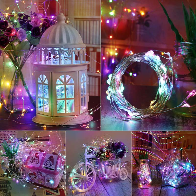 1/2/3M Christmas Decoration Copper Wire LED String Light Holiday Garland Fairy Lights Indoor Outdoor Party Wedding 2020 New Year