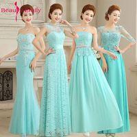 Mint Green Bride Gown Fashion Wedding Lace Chiffon See Through Elegant Wedding Party Dress Vestidos De