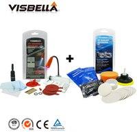Visbella DIY Windshield Repair Kit With Uv Light Windscreen Glass Crack Glue Adhesive And Headlights Restoration