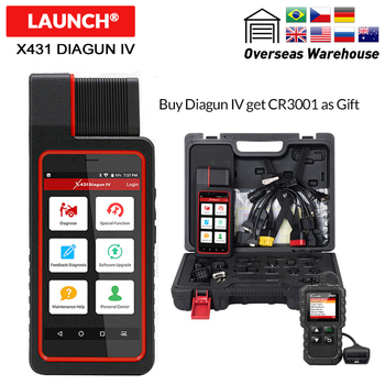 Launch X431 Diagun IV with full adapter Diagnostic Tool Free Update Online Code reader better than easydiag elm327