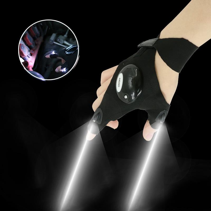1pcs Car Repair Lamp Lighting Glove Night Car Repair Glove Led Light Night Fishing Lamp Glove Hanging Bait Lamp Supplies