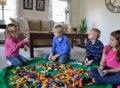 Marca novo Portátil Crianças Crianças Infantil Esteira Do Jogo Do Bebê Grandes Sacos De Armazenamento Brinquedos Organizador Boxes Blanket Tapete para Brinquedos Lego