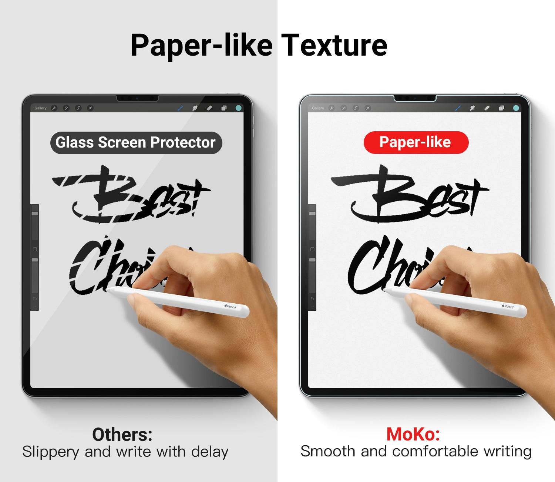 MoKo Paper-Like Screen Protector Anti-Glare PET Film for iPad Pro 12.9 2017/&2015