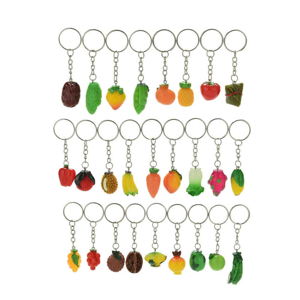 1Pc fruta llavero verduras clave cadena manzana plátano llavero maíz hongos clave llaveros de comida, regalo para las mujeres