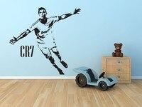 Sports Soccer Kids Room Decor CR7 Celebrating Posters Vinyl Cut Wall Decals Cristiano Ronaldo Football Sticker