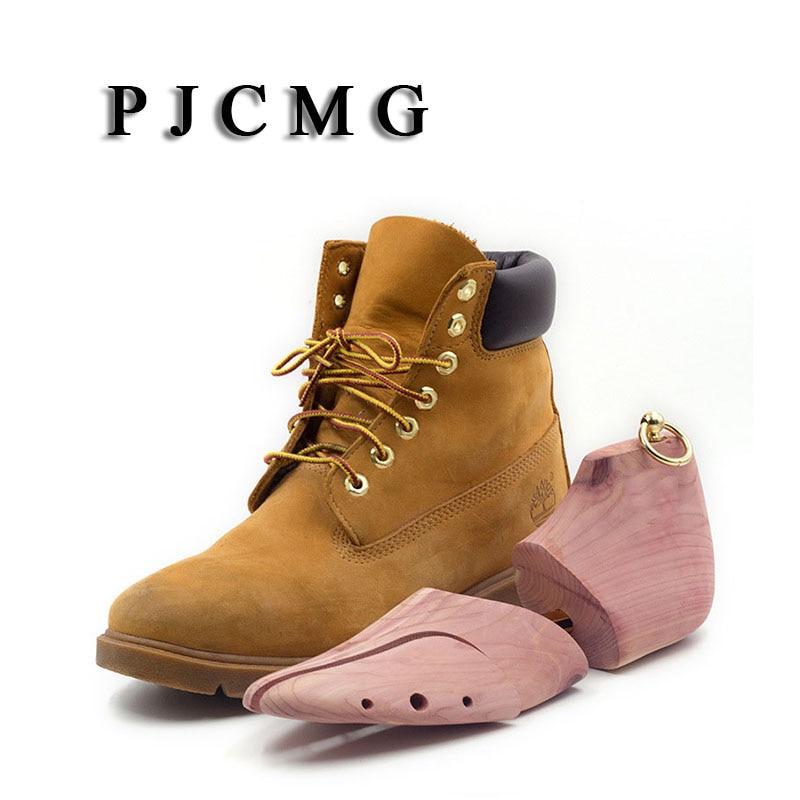 1 paire bois de cèdre rouge réglable chaussure Shaper hommes chaussure arbre civière Support pour hommes botte expanseur dispositif