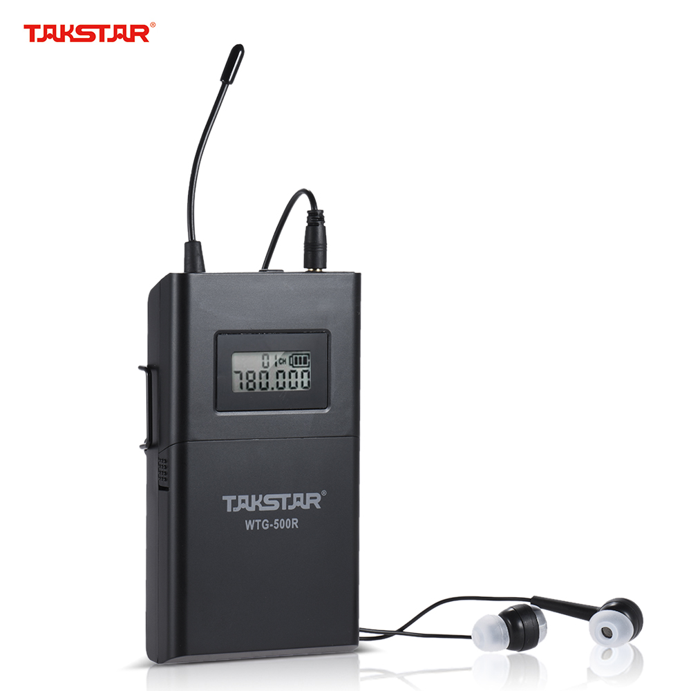 TAKSTAR WTG 500R UHF Wireless Acoustic Transmission Receiver 100m Effective Range 6 Selectable Channels LCD Display