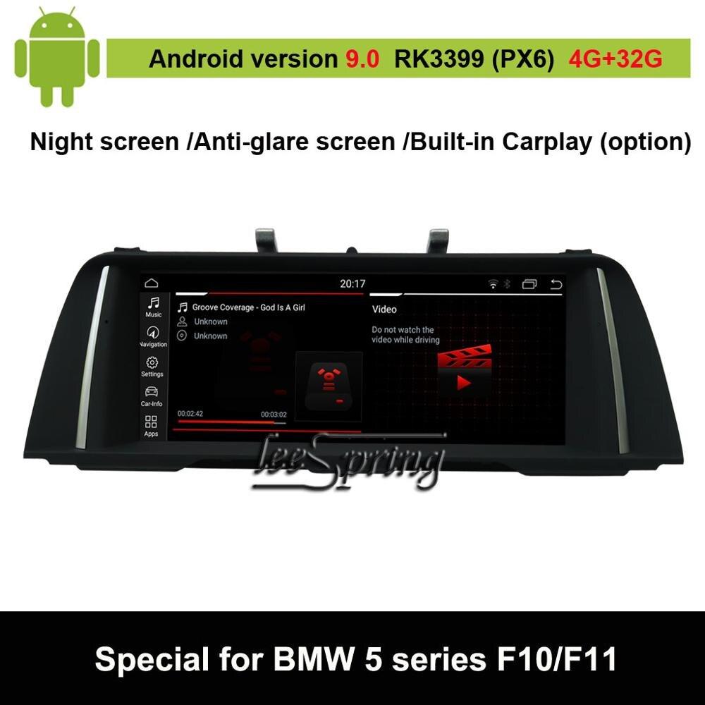 Lecteur multimédia de voiture Android 9.0 pour BMW série 5 F10/F11 (option 2011-2016 CIC NBT) Navigation GPS automatique