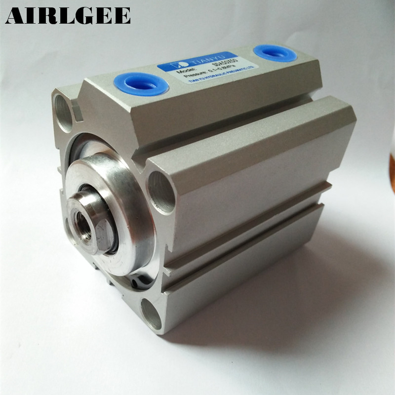 50mm Bore 50mm Stroke Aluminum Alloy Double Action Air Cylinder Free Shipping 50mm bore 50mm stroke aluminum alloy double action air cylinder free shipping
