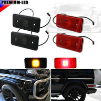 Euro Smoked Lens Front Red Lens Rear LED Side Marker Lights SET For 2002 2014 Mercedes