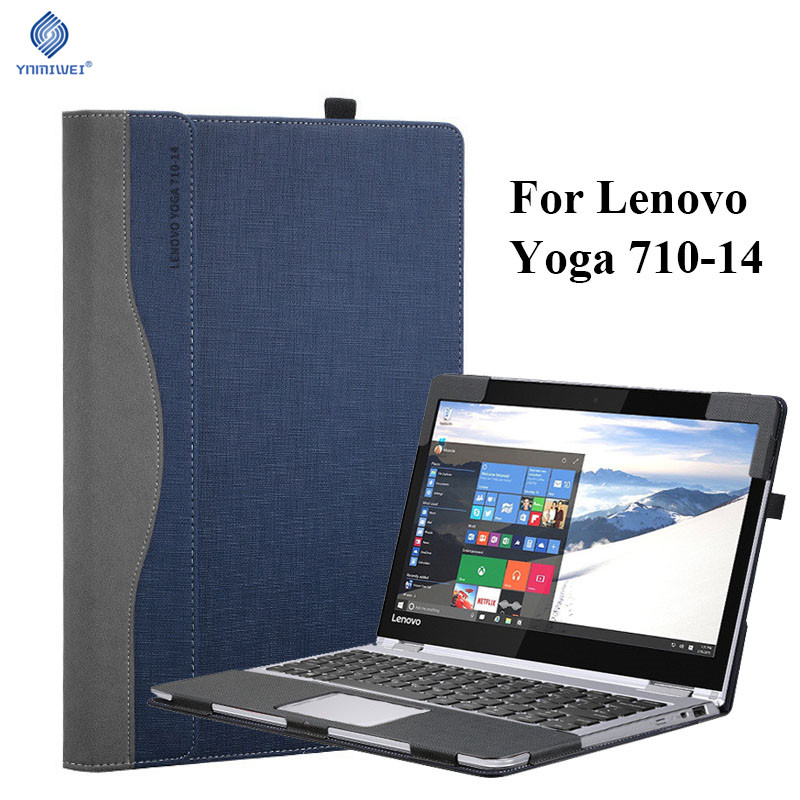Tablet Laptop Cover For 14 Inch Lenovo Yoga 710 Sleeve Case Luxury PU Leather Protective Skin For Yoga 710 14 Shockproof Shell