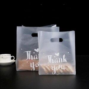 Image 1 - Bolsa de plástico para el pan de agradecimiento, 50 Uds., bolsa para regalar galletas, recuerdo de fiesta de boda, bolsas transparentes para envolver alimentos
