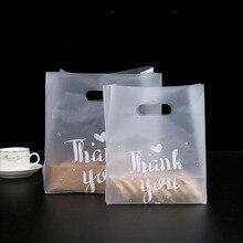 Saco do presente 50 peças, graças você pão plástico doces biscoito festa de casamento lembrancinha transparente saco de compras embrulho
