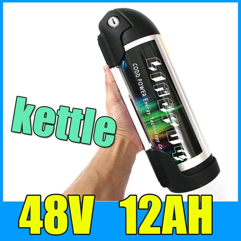 8fun батарея 48v 12ah для чайник цилиндрический алюминиевый сплав литиевая батарея , 13С 54.6 V Электрический велосипед самокат BBSHD батареи