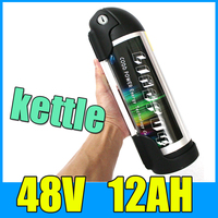 48V 12AH Kettle Cylindrical Aluminum Alloy Lithium Battery Pack 54 6V Electric Bicycle Scooter E Bike