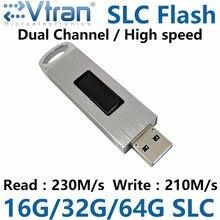 EVTRAN V03SV SLC USB3.0 SLC Pendrive 16G 32G 64G 8CE SLC อ่าน/เขียน 220 เมกะไบต์/วินาที USB3.0 flashDisk IS903 SLC FLASH Disk โลหะกรณี