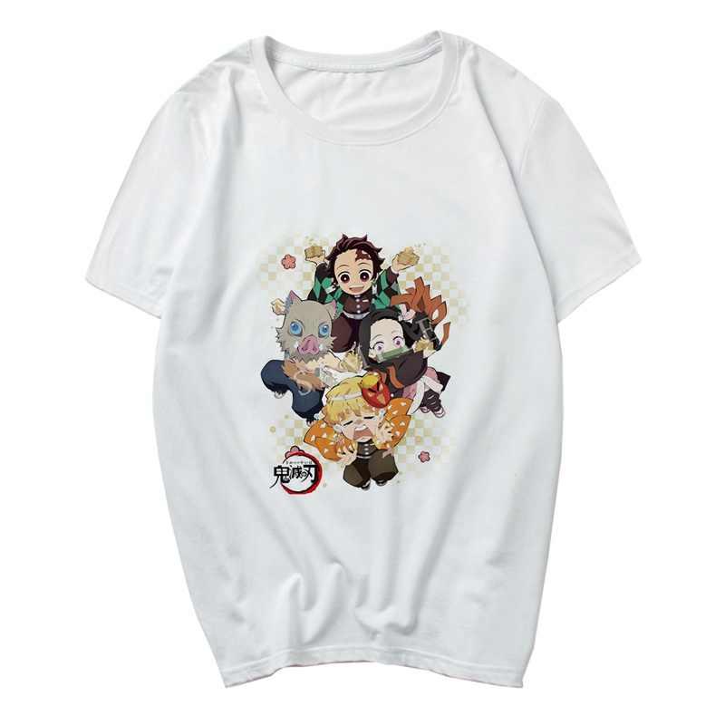 Мультфильм Аниме Kamado Tanjirou Demon Slayer Kimetsu No Yaiba унисекс футболка крутая Модная стильная женская мужская футболка с круглым вырезом из модала