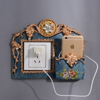 Luxurious Europe Wall Socket Sticker Mulit Color Wall Stickers Socket With Stander Phone Charging For Home