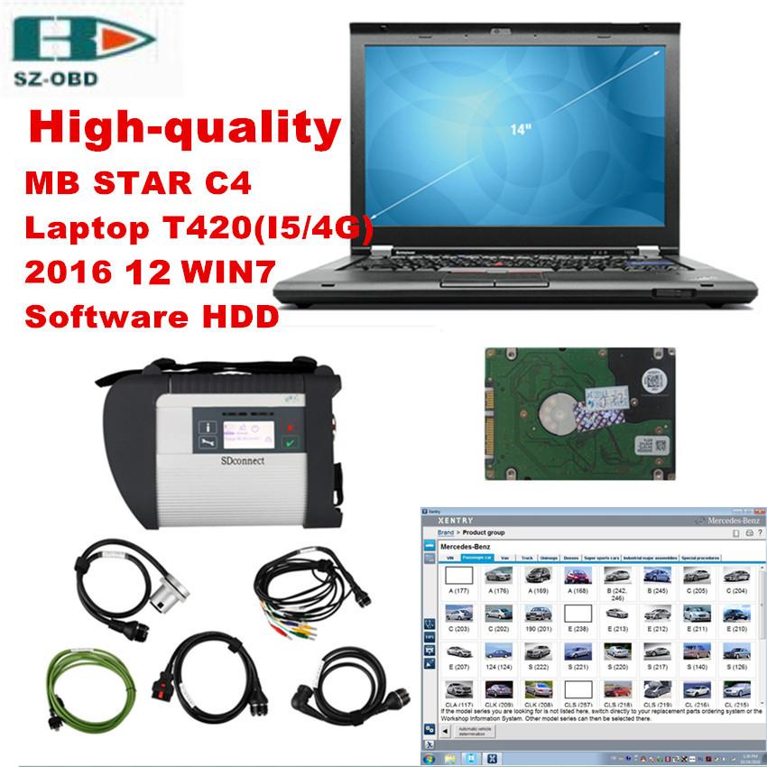 Best obd2 diagnostic tool kit high quality mb star c4 for Mercedes benz star diagnostic tool