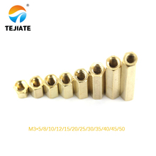 20PCS/LOT M3 female Female Brass Standoff Spacer M3 (5-50) Copper Hexagonal Stud Spacer Hollow Pillars m3*5-50mm