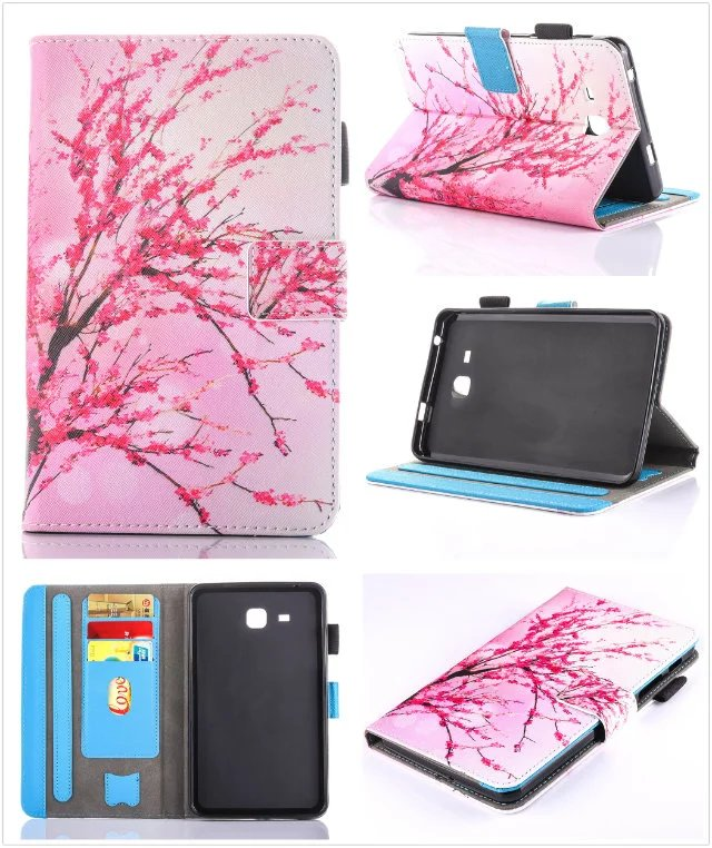 2017 New For Samsung Galaxy Tab A 7.0 SM-T280 SM-T285 funda Cartoon PU Leather cover for Samsung T280 T285 Case Tablet Cover