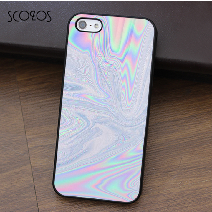 SCOZOS Holographic Tumblr fashion cell phone case cover for iphone X 4 4s 5 5s Se