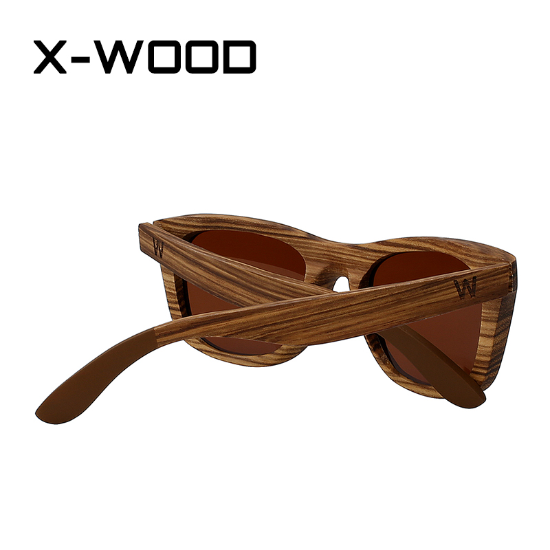 6c30eb6712121 X WOOD Retro Square Zebra Wood Frame Sunglasses Men Sunglasses Women  Sunglasses Polarized Sunglasses Men Gafas de sol hombre-in Sunglasses from  Apparel ...